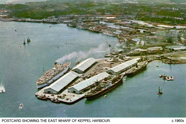 _12A-Postcard-East Wharf-Keppel-Harbour-1960s
