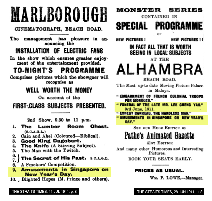 02-Local-press-movie-ads-Malborough-Alhambra-1911
